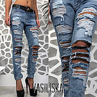 2c5c29f5fb6 Женские крутые рваные джинсы с ремнем. Турция. ВВ-31-0518 25