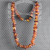 Янтарь самородки шлифованные, 16*10 мм., бусы, 416БСЯ