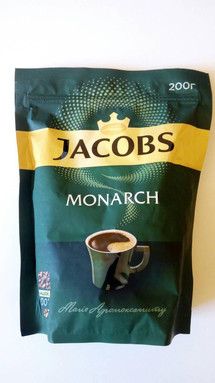Кофе JACOBS Monarch растворимый 200 грамм