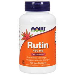 Антиоксидант NOW Foods Rutin 450mg 100 caps