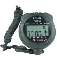 Секундомер для крикета PC2000 бол. цифры, двухстрочный, пластик, 4-ех кноп., будильник.