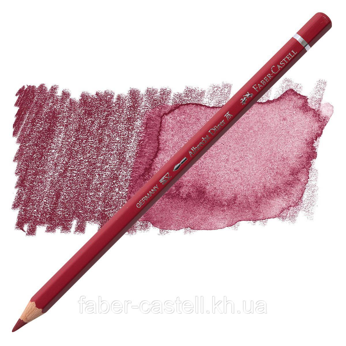 Олівець акварельний кольоровий Faber-Castell Albrecht Дюрера темно-червоний (Dark Red) № 225, 117725