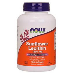 Подсолнечный лецитин NOW Foods Sunflower Lecithin 1200mg 100 softgels