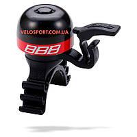 """Велосипедный звонок BBB-16 """"MiniFit"""" черно-красный"""