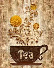 """Схема  для вышивки картины бисером на атласе """"Чай"""""""