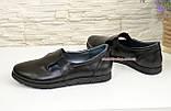 Кожаные женские туфли на низком ходу, фото 3