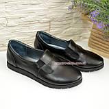 Кожаные женские туфли на низком ходу, фото 4