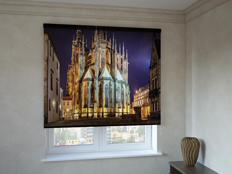 Рулонные шторы с фотопечатью старинная архитектура