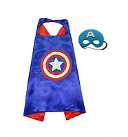 Детский плащ с маской Капитан Америка