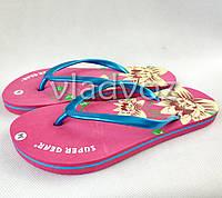 Женские сланцы шлепки вьетнамки шлепанцы пляжные розовые 40р.