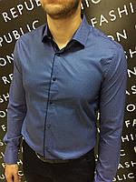 Рубашка мужская FR 6172 синяя