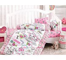 Постельное белье Cotton Box для новорожденных Tavsan Kardes Pembe