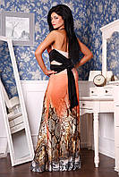 Вечернее платье с открытой спиной длинное в пол облегающее масло ткань, нарядное, красивое, фото 1