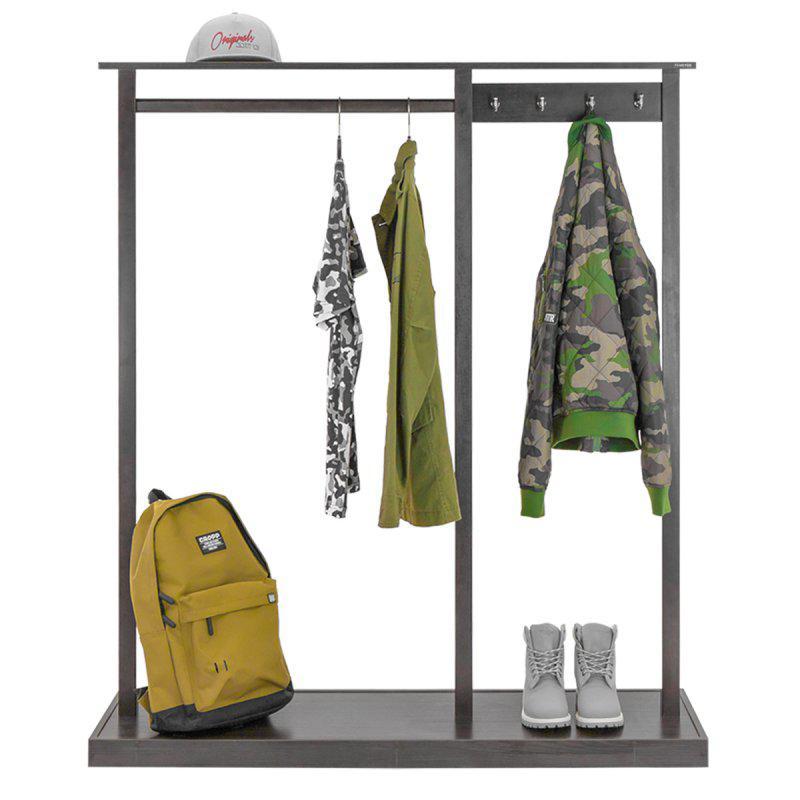 Стойка для одежды Дельта 2 (натуральное дерево)