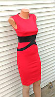 Платье красное женское