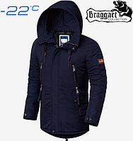 Парка зимняя мужская Braggart Arctic - 3587 темно синий
