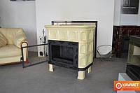 Кафельная печь камин Kaw-Met W9, 12.8 кВт. с воздушным контуром