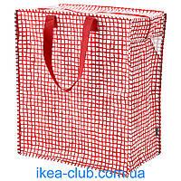 Сумка IKEA КНЭЛЛА 603.304.89 красный/белый