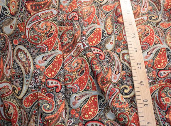 Ткань штапель восточный принт D-18, фото 2