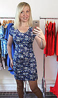 Женское легкое летнее трикотажное платье в цветы