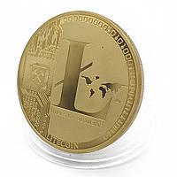 Монета сувенирная Litecoin позолоченная