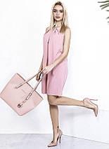 "Короткое летнее платье-трапеция ""ANGI"" со складками на груди (3 цвета), фото 2"