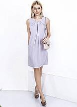 "Короткое летнее платье-трапеция ""ANGI"" со складками на груди (3 цвета), фото 3"