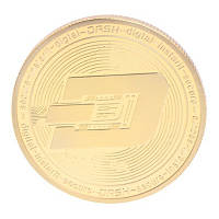 Монета сувенирная Dash золотая