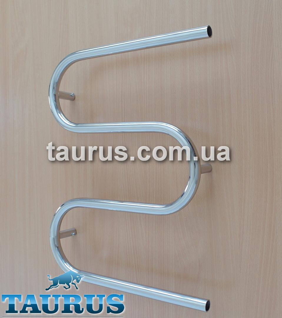 Проточная водяная полотенцесушилка Змейка на 3 колена (550 х 500 мм).