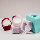 Силиконовый молд для эпоксидной смолы на кольцо, вертикальная заливка (18мм), фото 4