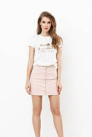 """Хлопковая женская футболка """"LONDON"""" с принтом и коротким рукавом (2 цвета)"""