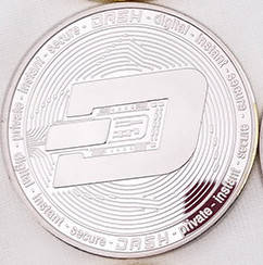 Монета сувенирная Dash серебряная, фото 2