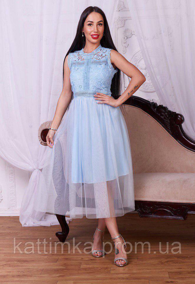 a03c0e37095 Женское изысканное платье из дорогого гипюра - Интернет-магазин