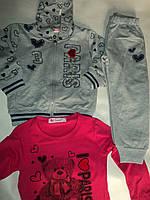 Спортивный трикотажный костюм для девочек тройка Венгрия
