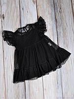 Фатиновые платья с боди, черные, фото 1