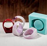 Силиконовый молд для эпоксидной смолы на кольцо, горизонтальная заливка (18мм), фото 2
