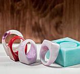 Силиконовый молд для эпоксидной смолы на кольцо, горизонтальная заливка (18мм), фото 4