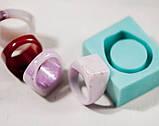 Силиконовый молд для эпоксидной смолы на кольцо, горизонтальная заливка (18мм), фото 5