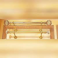 Наконечник на трубу для штор 25го диаметра круглый с камнями, фото 1