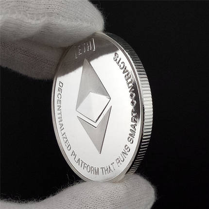 Сувенірна Монета срібна Ethereum, фото 2