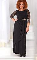 Платье с гипюром батал  с1229-1, фото 1