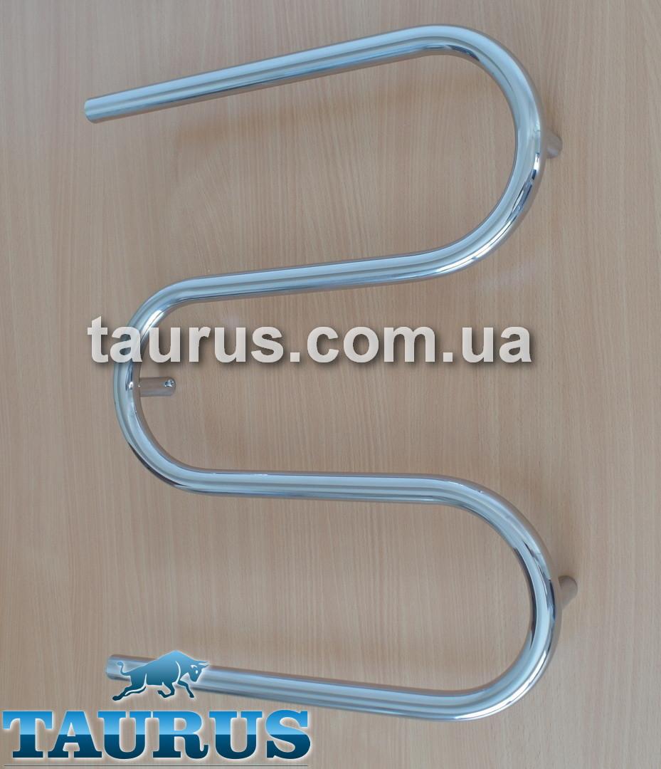 Нержавеющий полотенцесушитель Змейка - 3 колена 550 х 650 мм. Труба 25х2мм