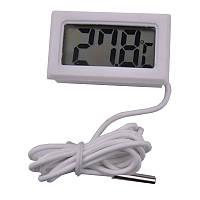 Цифровой термометр высокоточный с выносным датчиком ТМ-2 белый