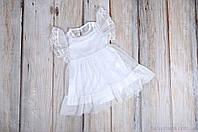 Фатиновое платье с боди, белое, фото 1