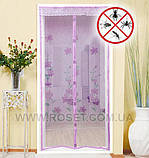 Антимоскитная сетка на дверь Magic Mesh (210*100 см.) защитная сетка штора на двери от комаров и мух, фото 2