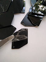 Стрази дзеркальні пришивні 24х34 мм, Jet Black. Ціна за шт, фото 1