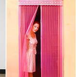 Антимоскитная сетка на дверь Magic Mesh (210*100 см.) защитная сетка штора на двери от комаров и мух, фото 4