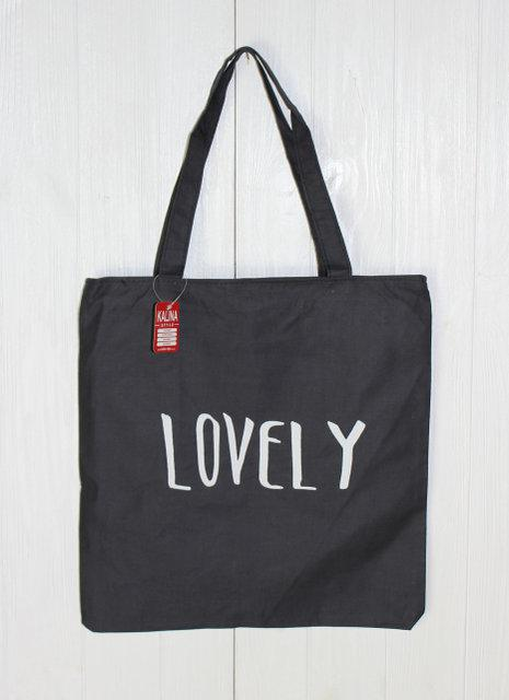 Пляжная женская сумочка через плечо с надписью LOVELY