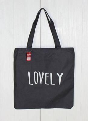 Пляжная женская сумочка через плечо с надписью LOVELY, фото 2