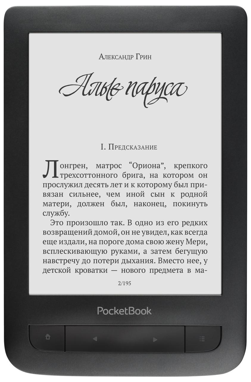 Читалка для книг PocketBOOK 625 Basic Touch 2, Black (PB625-E-CIS), эл